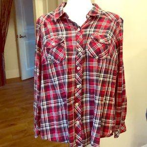 Torrid Plaid Flannel Size 1